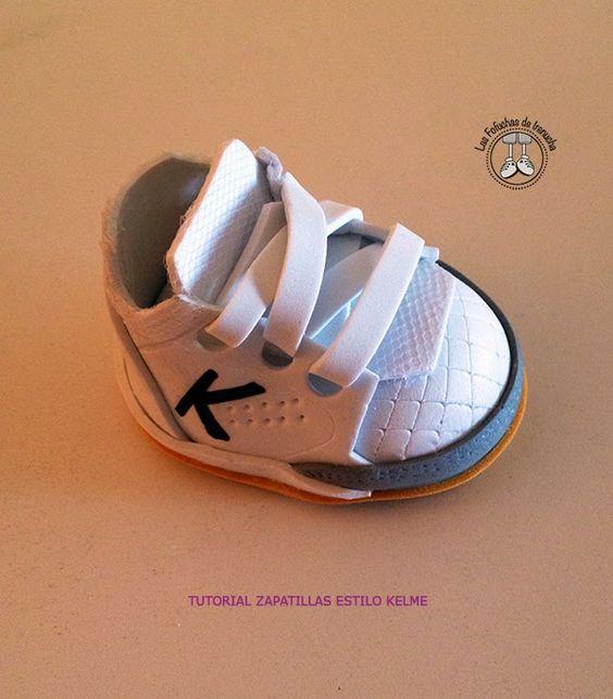 Zapatillas de deporte en goma eva para fofuchas. Las fofuchas de Irenucha