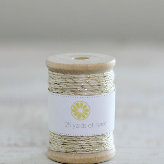 Gold and natural twine by we love citrus