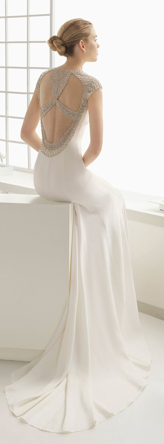exquisite embellishments and an astounding variety of unique necklines wedding dress