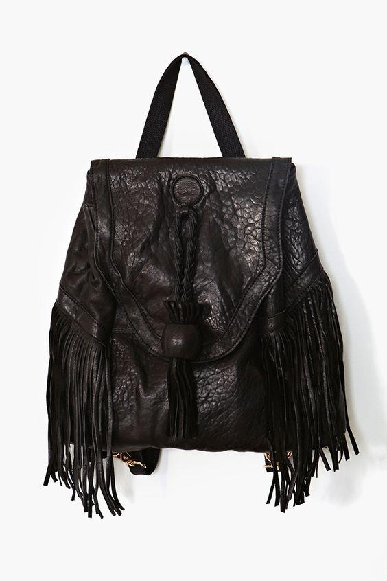 Dylan Fringe Leather Backpack