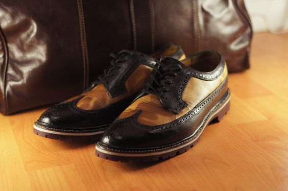 Greenwich Vintage Co. x Anchor Division – Camo Wingtip Brogues — ANCHOR DIVISION