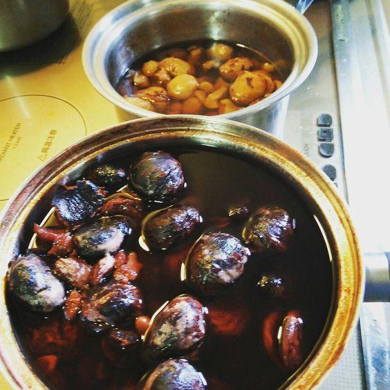 栗 の 渋皮煮 と 甘露煮