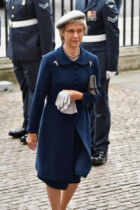 LONDON, ENGLAND - JULY 10: Birgitte, Duchess of Gloucester attend as members of the Royal Family attend events to mark the centenary of the RAF on July 10, 2018 in London, England.  (Photo by Jeff Spicer/Getty Images)