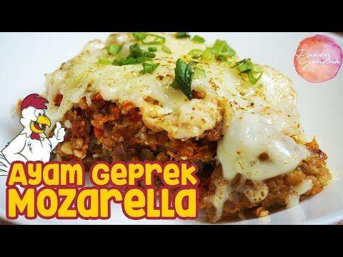Resep Ayam Geprek Mozarella Youtube Resep Ayam Resep Makanan Resep