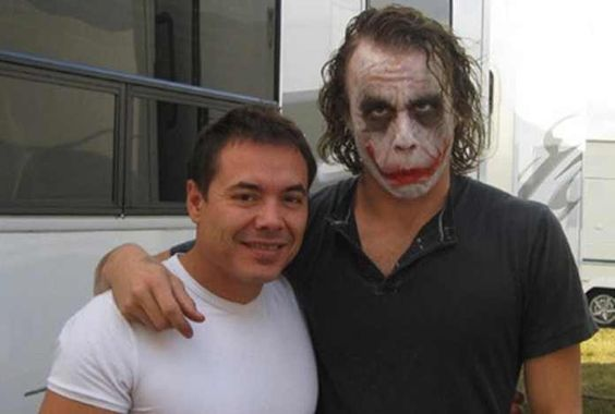 Joker on the sets of batman movie