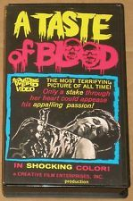 A Taste Of Blood VHS - Something Weird Video Herschell Gordon Lewis Horror: