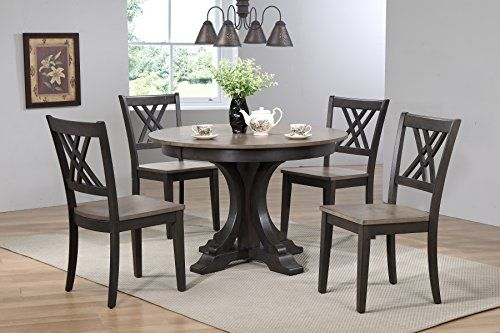 Iconic Furniture 5 Piece Deco Double X Back Dining Set A Https Www Amazon Com Dp B06y1nzm6n Ref Solid Wood Dining Set Dining Room Design Dining Room Sets