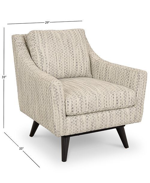 Furniture Cistella 31 Fabric Accent Swivel Chair Created For