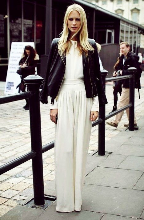 Can't go wrong with an all white ensemble www.glamourmarmalade.com