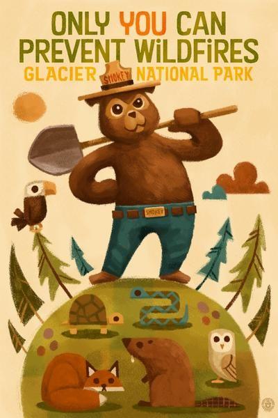 Glacier National Park, Montana - Smokey Bear & Friends