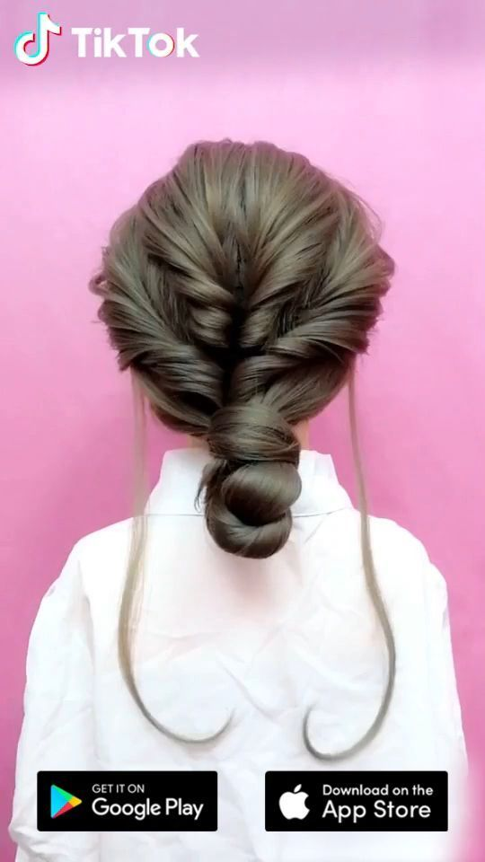 Super Easy To Try A New Hairstyle Download Tiktok Today To Find More Amazing Videos Also You Can P In 2020 Short Hair Diy Diy Hairstyles Easy Hairdo For Long Hair