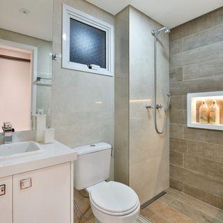 Banheiro Com Revestimento De Madeira No Box Futura Casa Casas