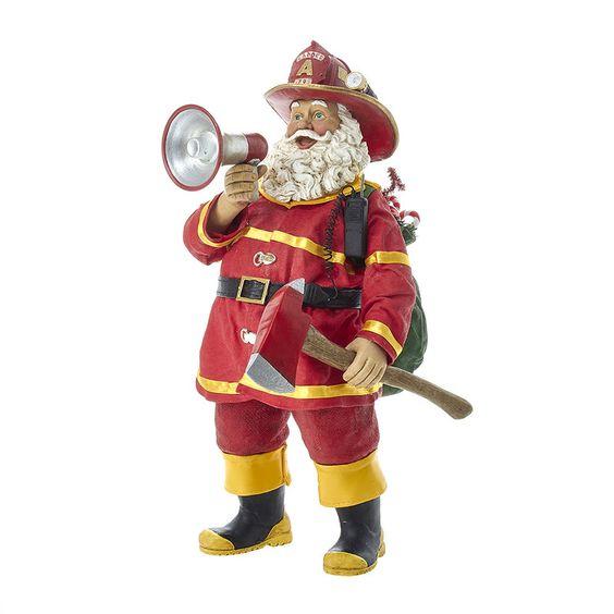 Kurt Adler 11-Inch Fabriché Fireman Santa