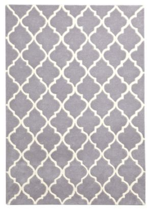 Colours Elisie Lattice Rug Dove L 1 7 X W 2m 5397007081022