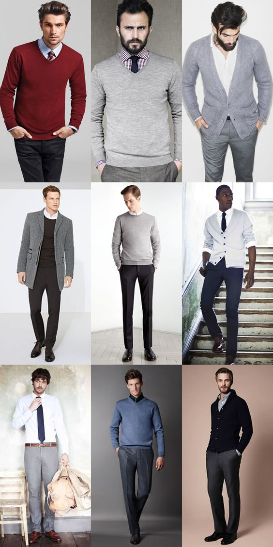 Men's work outfits... remember, you should always wear a suit to the interview, but these outfits work for a day at the office for your next job or internship!
