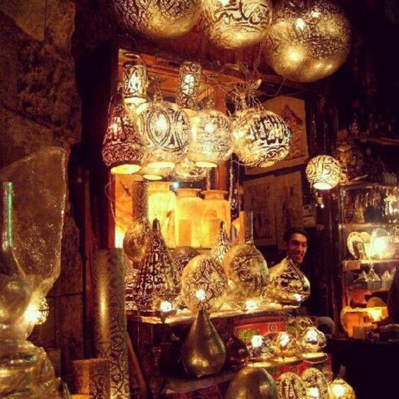 Light Shop In Khan El Khalili, Cairo. #egypt