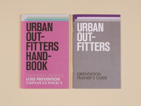 Urban Outfitters New Employee Handbooks Security Booklet - sample employee manual template
