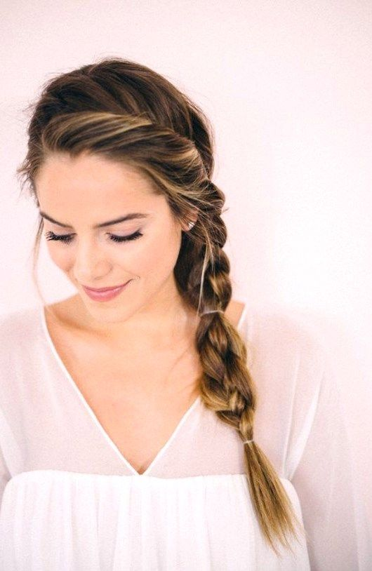 27 Cute And Easy Long Hairstyles For School Pinmagz In 2020 Casual Braided Hairstyles Hair Styles Easy Summer Hairstyles