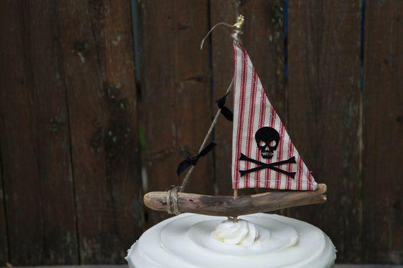 Torta de barco pirata por GoldDrift en Etsy