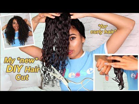 Chopping My Own Curly Hair Experimental Method Youtube Summer Hairstyles Hair Styles Diy Haircut
