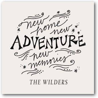 New Adventure - Signature White Enclosure Cards - Stacey Day - Light Gray - Gray | www.WeddingPaperDivas.com