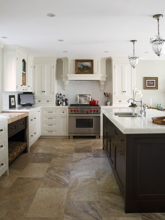 Guelph Century Home. Two tone kitchen