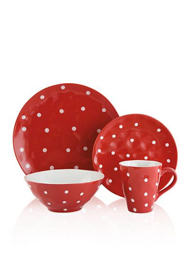 Maxwell & Williams Sprinkle Red Dot Dinnerware & Accessories: