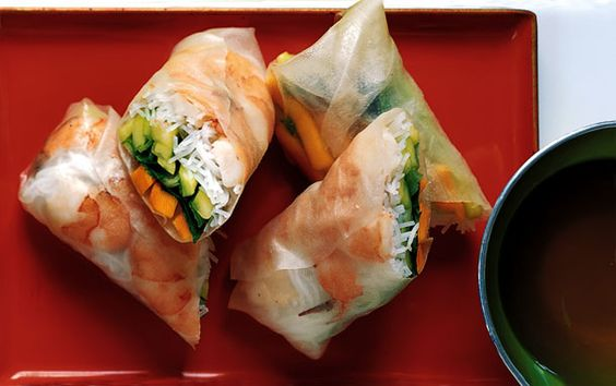 Shrimp Summer Rolls Recipe | Mango Shrimp Summer Rolls: 2000s Recipes + Menus : gourmet.com