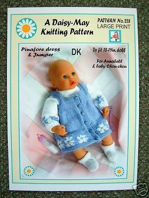 1x DOLLS KNITTING PATTERN by DAISY-MAY 13-14Ins doll No 249 | Dolly ...