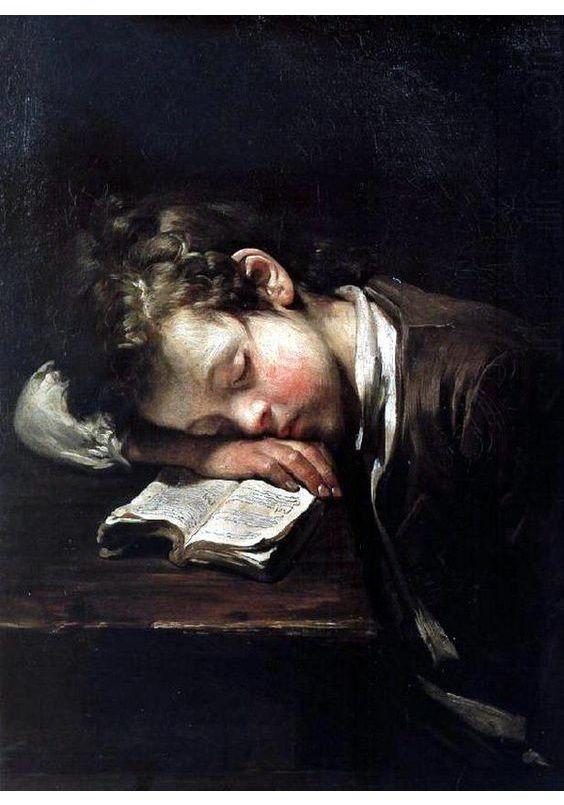 El pequeño perezoso, de Jean-Baptiste Greuze (1755). | Obras de ...