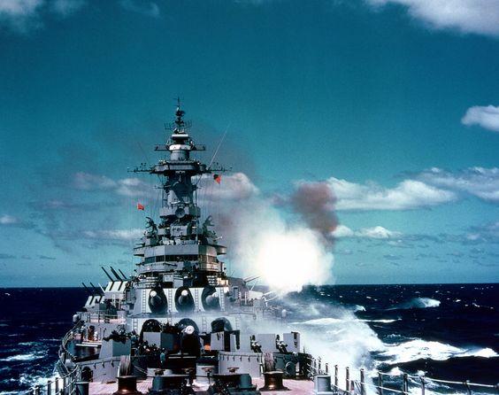 USS New Jersey (BB-62) off Korea, 1953.