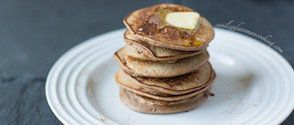 A simple 3 ingredient recipe for perfect paleo pancakes that you can make in a hurry or in advance. Add all the flavors you want and enjoy.