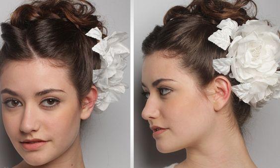 Cabelo de noiva: penteados com acessórios para o grande dia - Cabelos - MdeMulher - Ed. Abril