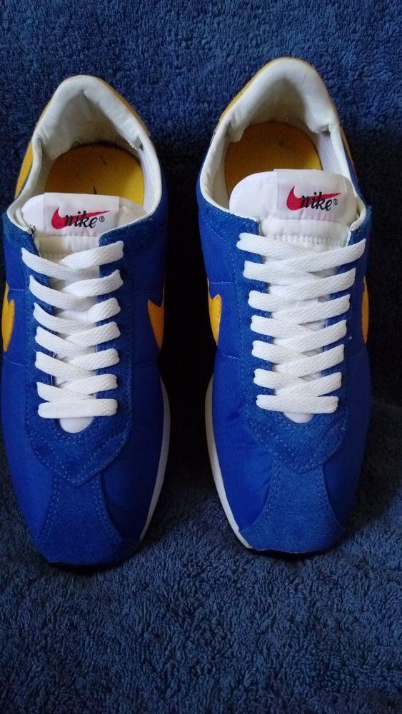 Vintage Nike Waffle Trainer Blue/Yellow