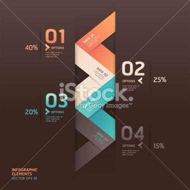 Abstract arrow origami style infographics banner. Royalty Free Stock Vector Art Illustration