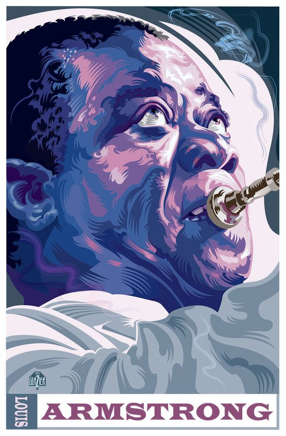 Louis Armstrong - Illustration by Garth Glazier