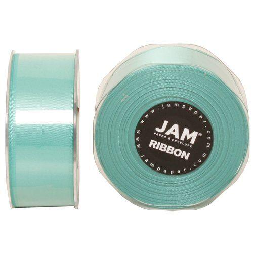 "Tiffany Blue 1 1/2"" thick x 25 yards Spool of Double Faced Satin Ribbon - Sold individually JAM Paper,http://www.amazon.com/dp/B00BSU05EC/ref=cm_sw_r_pi_dp_tnQ3sb0NKRFSJ6FE"