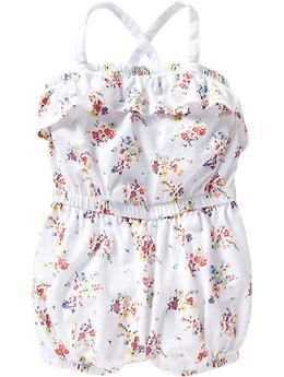 Floral-Print Jersey Rompers for Baby from Old Navy (12mo-5t) $9.99