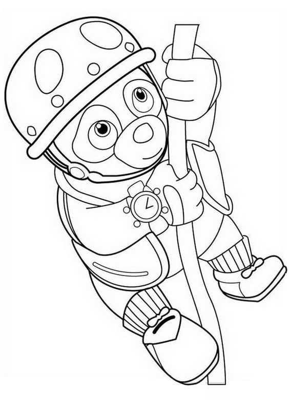 Special agent coloring and coloring pages on pinterest for Oso coloring pages