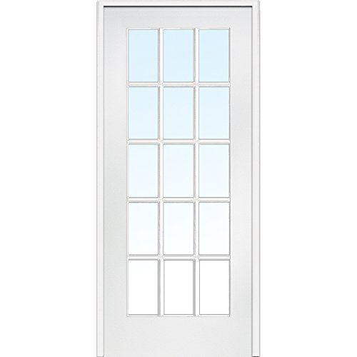 National Door Company Za09305l Primed Mdf 15 Lite Clear Glass Left Hand Prehung Interior Door 30 X 80 Prehung Interior French Doors French Doors Interior Prehung Interior Doors