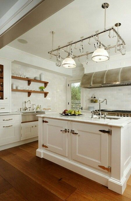 Kitchen with no window over sink