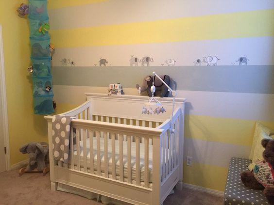Project Nursery - Gray and Yellow Elephant Nursery