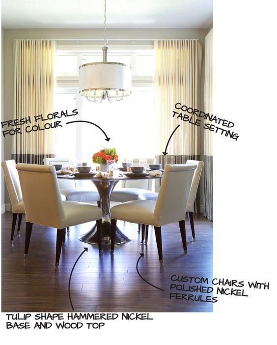 Corea Sotropa Interior Design Blog, Julian Chichester table, kravet chairs, custom drapery, kitchen nook