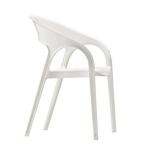 Pedrali Chic Italian Chairs & Cushions Gossip Armchair White, $259, now featured on Fab.