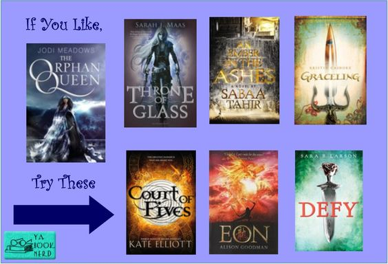 IF You Like The Orphan Queen, try these other YA fantasies: