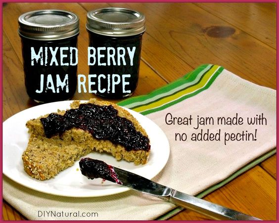 This mixed strawberry jam recipe--blackberry, blueberry, and strawberry--can be made without added pectin, is simple to make, and is easy to store for future use!