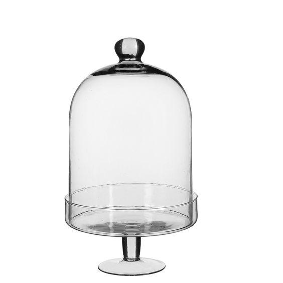 C pula de cristal con agarrador y base cristal - Campana de cristal ikea ...