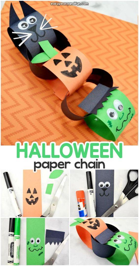 Halloween Paper Chain Craft Idea for Kids