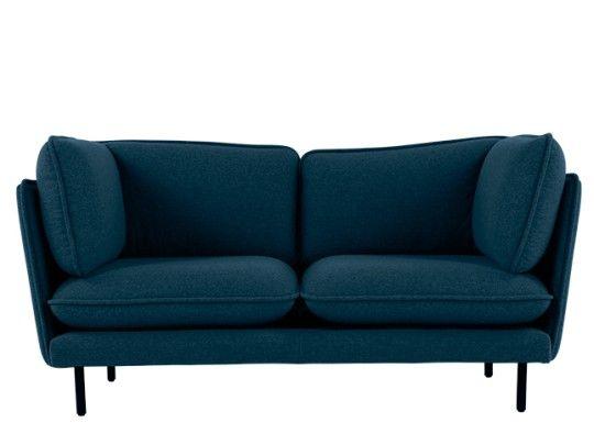 Flynn 2 Seater Sofa Atlantic Blue Linen Mix 2 Seater Sofa Seater Sofa Blue Sofa