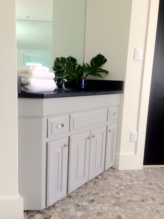 Lake House Master Bathroom: Before & After. Bathroom cabinet ...